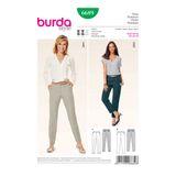 Burda Schnittmuster - 6689 - Damen Hose - Bügelfalte 001