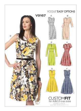 Vogue Schnittmuster V9167 - Damen - Kleid