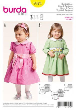 Burda Schnittmuster - 9371 - Kinder Kleid, Pumphose