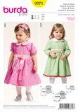 Burda Schnittmuster - 9371 - Kinder Kleid, Pumphose 001