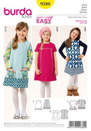 Burda Schnittmuster - 9380 - Kinder Kleid