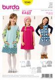 Burda Schnittmuster - 9380 - Kinder Kleid 001