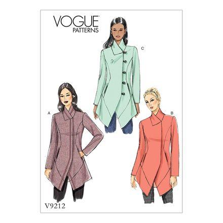 Vogue Schnittmuster V9212 - Damen - Jacke
