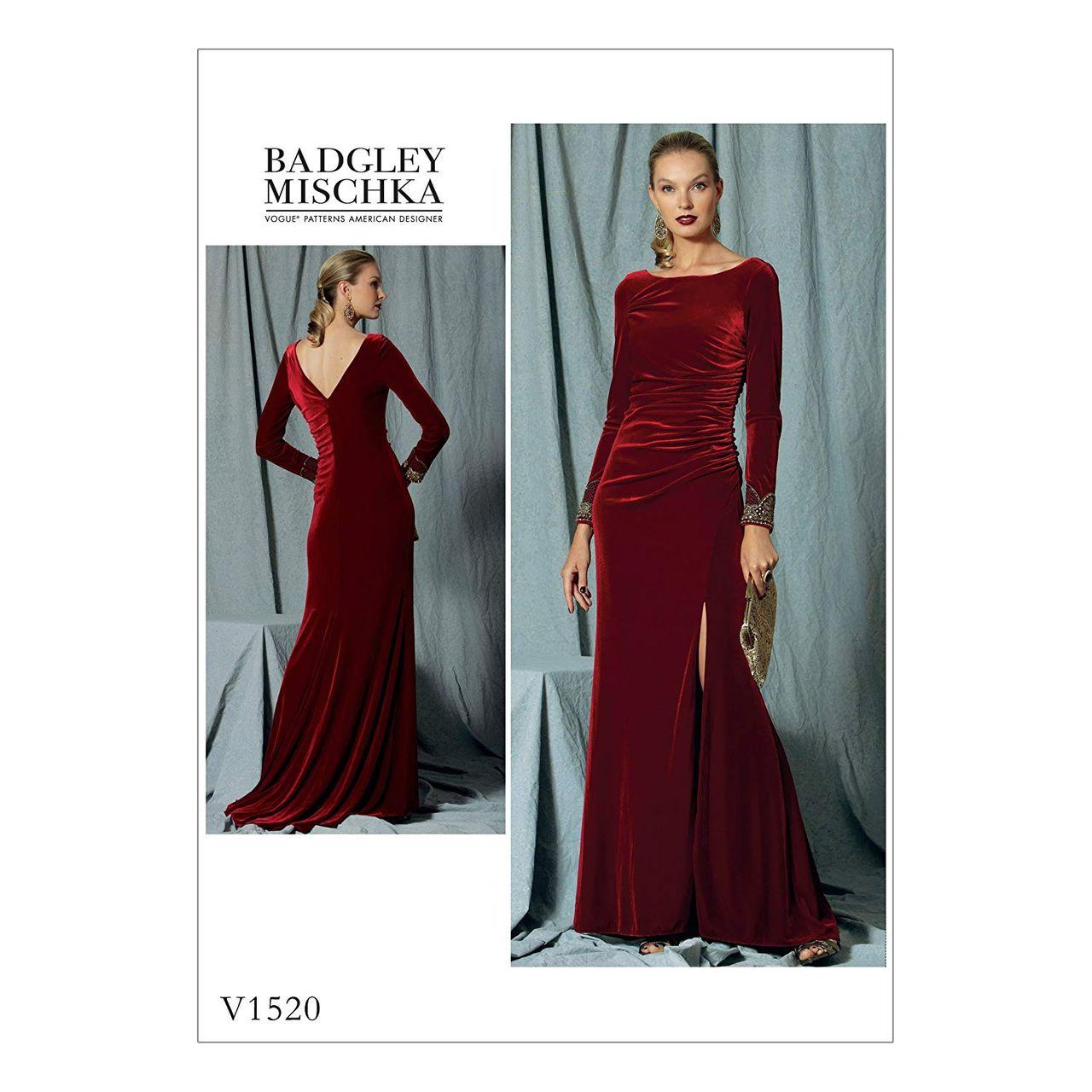 Vogue Schnittmuster V15 - Damen Kleid, Abendkleid  alfatex Webshop