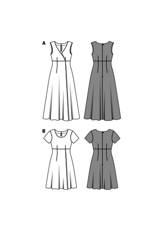 Schnittmuster kleid hohe taille
