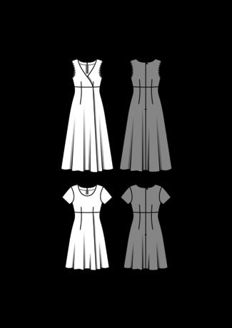 Schnitt - 6496 - Kleid – hohe Taille – Wickeleffekt SCHNITTE ...