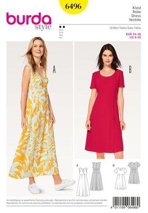 Schnitt - 6496 - Kleid – hohe Taille – Wickeleffekt