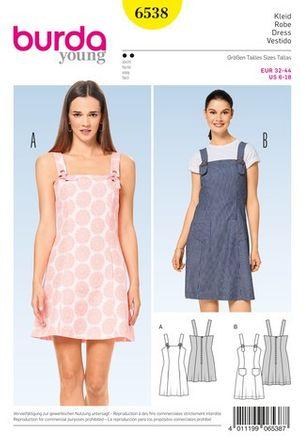 Schnitt - 6538 - Kleid – Trägerkleid – Teilungsnähte