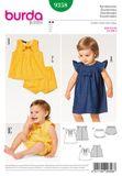 Burda Schnittmuster - 9358 - Kinder, Baby Kleid, Bluse 001