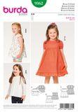 Burda Schnittmuster - 9362 - Kinder Bluse, Kleid 001