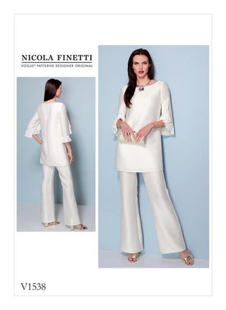 Vogue Schnittmuster V1538 - Tunika, Jumpsuit