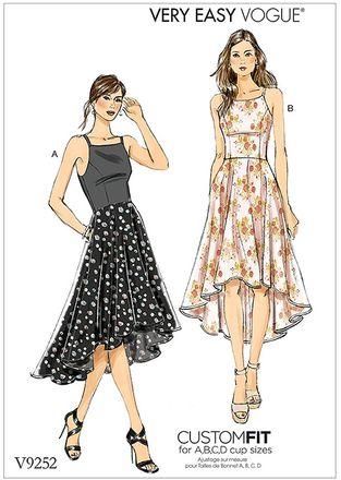 Vogue Schnittmuster V9252 - Damen - Kleid