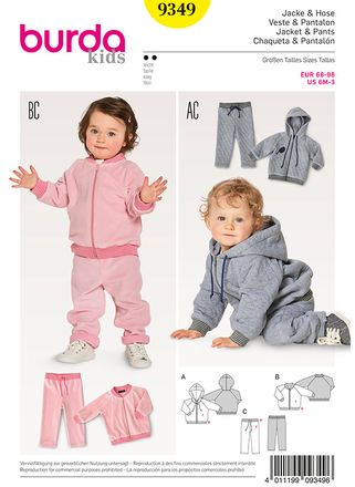 Burda Schnittmuster - 9349 - Kinder Jacke & Hose