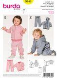 Burda Schnittmuster - 9349 - Kinder Jacke & Hose 001