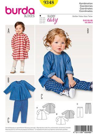 Schnitt - 9348 - Kombination - Kleid, Shirt und Hose