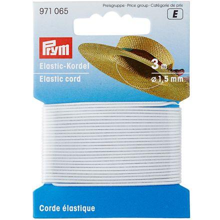 PRYM Elastic-Kordel 1,5 mm - weiß