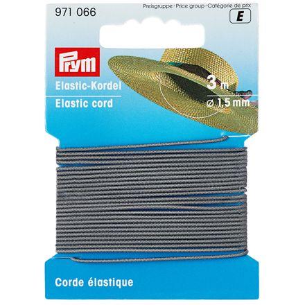 PRYM Elastic-Kordel 1,5 mm - hellgrau
