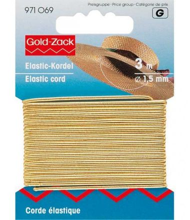 PRYM Elastic-Kordel 1,5 mm - gold