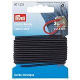 PRYM Elastic-Kordel 2,5 mm - schwarz 001