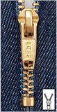 PRYM Metall-Reißverschluss - 16 cm - jeansblau (M8) 001