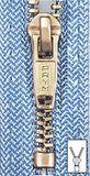 PRYM Metall-Reißverschluss - 16 cm - hell jeansblau (M8) 001