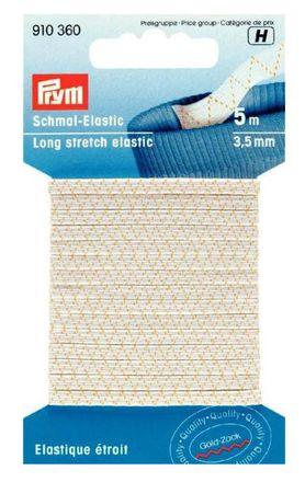 PRYM Schmal-Elastic 3,5 mm weiß