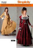 Simplicity 7532 Schnittmuster Historisches Kostüm Kleid 001