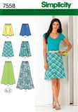 Simplicity 7558 Schnittmuster Rock A-Linie 001