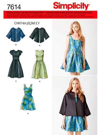 Simplicity 7614 Schnittmuster Sommer-Kleid mit Cape