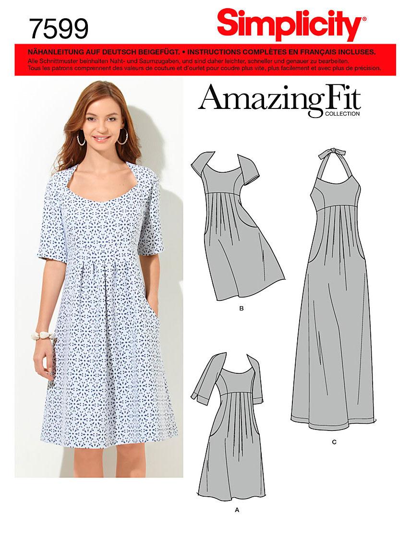 Simplicity 7599 Schnittmuster Sommer-Kleid SCHNITTE Schnittmuster ...