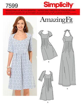 Simplicity Schnittmuster 7599 - Damen Sommer-Kleid, Neckholder