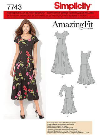 Simplicity Schnittmuster 7743 - Damen Kleid mit drei Rocklängen