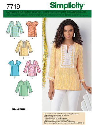 Simplicity Schnittmuster 7719 - Damen Tunika & Shirt