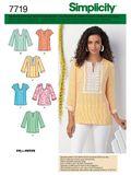 Simplicity Schnittmuster 7719 - Damen Tunika & Shirt  001