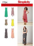 Simplicity Schnittmuster 7754 - Damen Jersey-Kleid  001