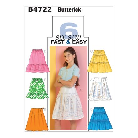 Butterick Schnittmuster - 4722 - Kinder - Rock