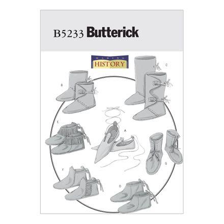 Butterick Schnittmuster - 5233 - Unisex - Kostüm-Schuhe