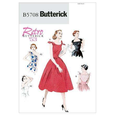 Butterick Schnittmuster - 5708 - Damen - Retrokleid