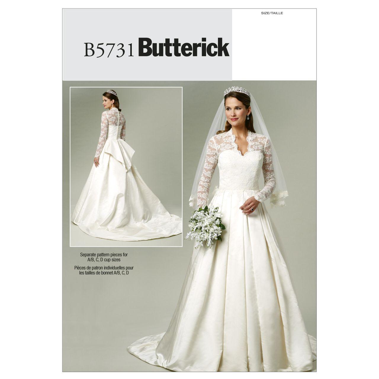 Butterick Schnittmuster - 5731 - Damen - Hochzeitskleid SCHNITTE ...
