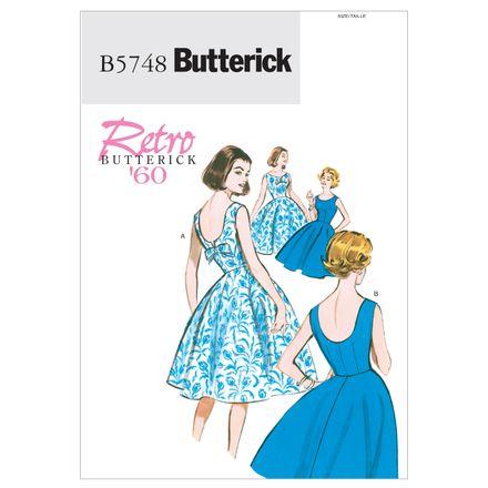 Butterick Schnittmuster - 5748 - Damen - Retrokleid