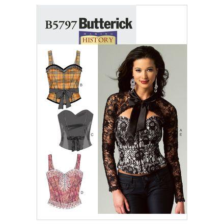 Butterick Schnittmuster - 5797 - Damen - Korsage, Bolero