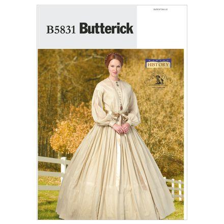 Butterick Schnittmuster - 5831 - Damen - Historisches Kostüm