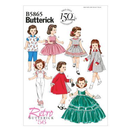 Butterick Schnittmuster - 5865 - Kinder - Puppenkleider