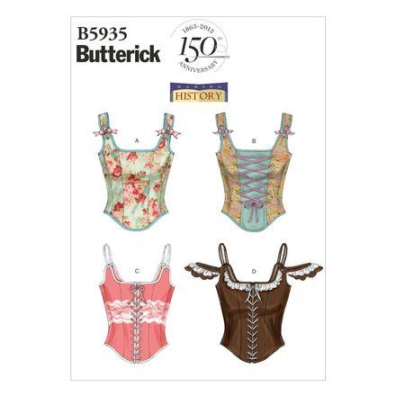 Butterick Schnittmuster - 5935 - Damen - Corsage – Bild 1