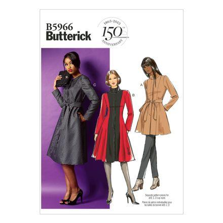 Butterick Schnittmuster - 5966 - Damen - Mantel – Bild 1