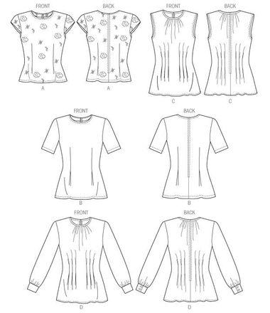 Butterick Schnittmuster - 5988 - Damen - Shirt – Bild 2