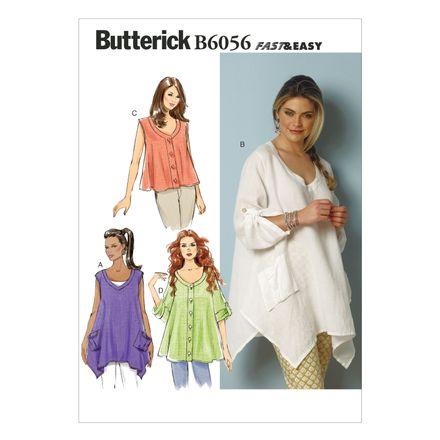 Butterick Schnittmuster - 6056 - Damen - Blusen-Shirt