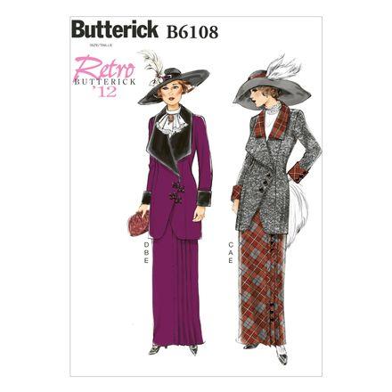 Butterick Schnittmuster - 6108 - Damen - Retrojacke mit Rock