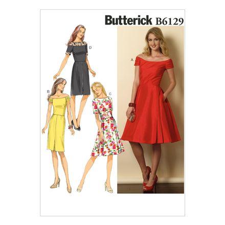 Butterick Schnittmuster - 6129 - Damen - Kleid