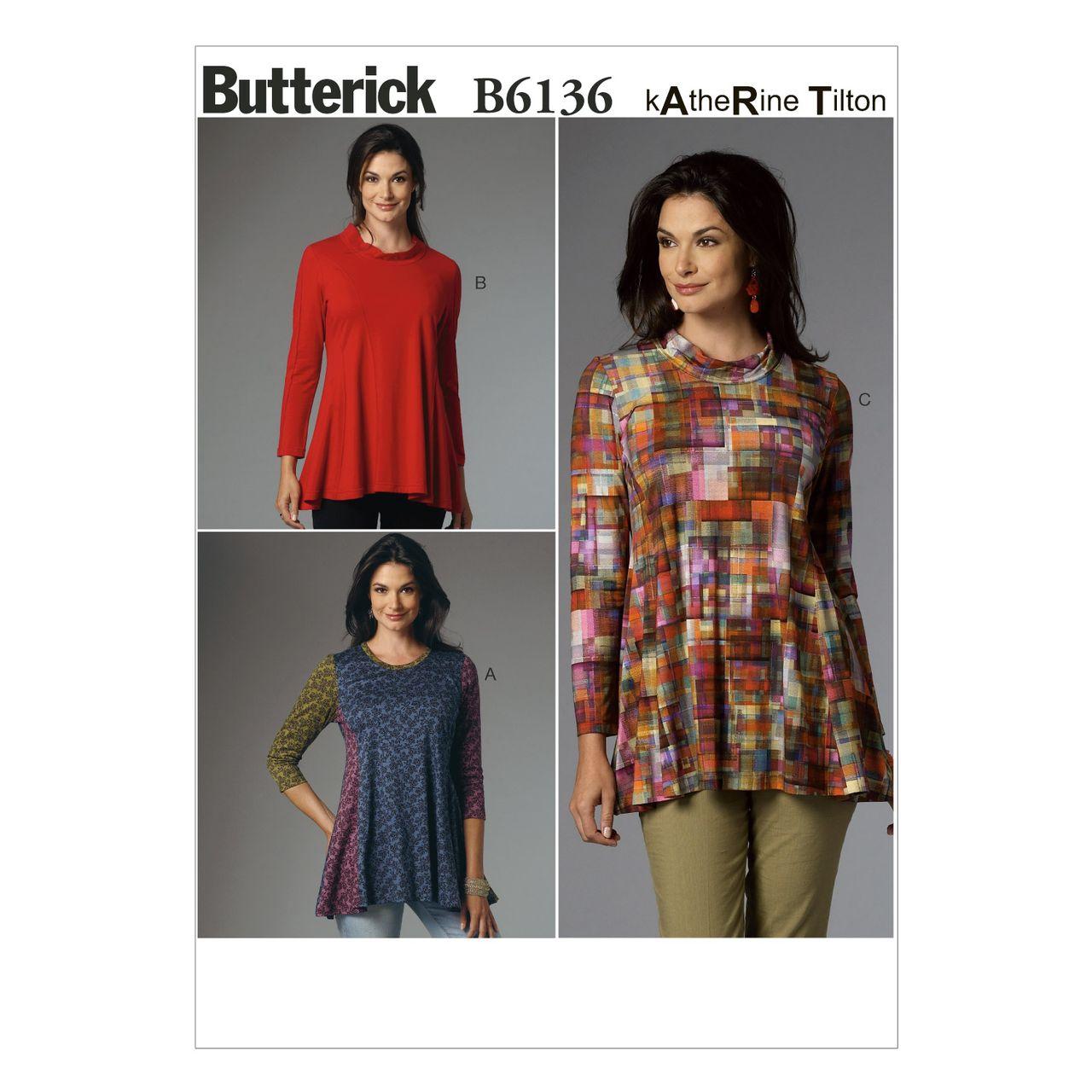 Butterick Schnittmuster - 6136 - Damen - Shirt SCHNITTE ...